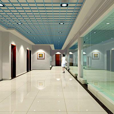办公楼走廊效果图 写字楼过道设计效果图欣赏图片