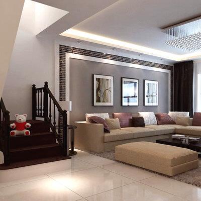 【复式楼】130平米现代简约复式房子装修效果图