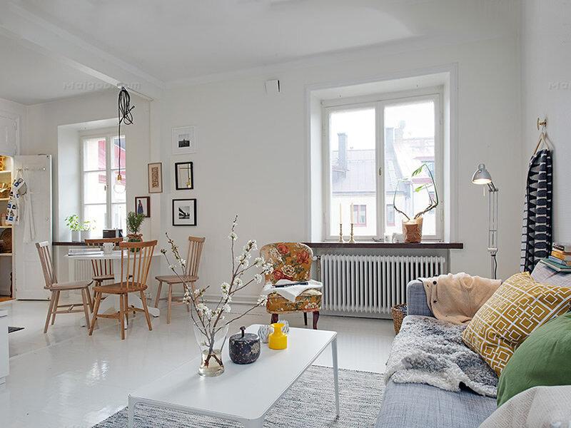 90后新生代北欧风60平米单身公寓装修图片欣赏