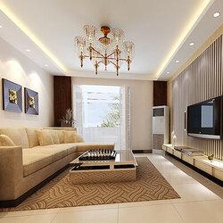 130平欧式风格三房一厅装修样板间效果图