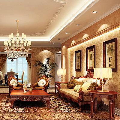 180平方房子设计图 欧式四室两厅两卫装修效果图图片