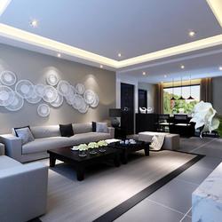 简约的灰色系客厅装修效果图 灰色客厅装修效果图欣赏