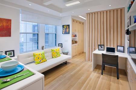 田园小清新格调 32平米一室一厅装修效果图