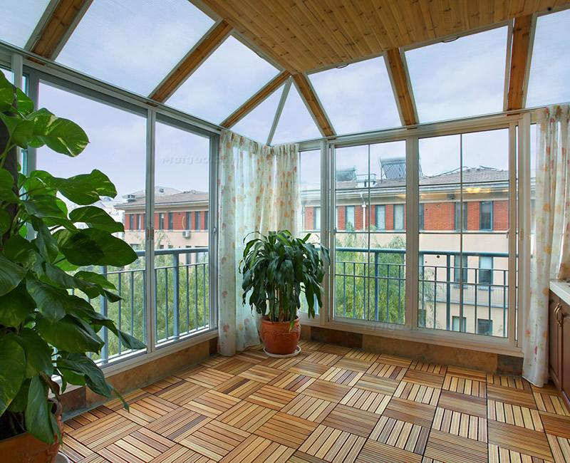 阳台瓷砖铺贴效果图 阳台地面装修效果图图片