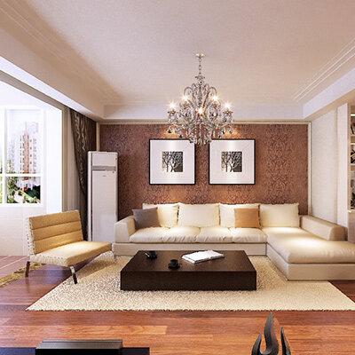 110平方房子装修效果图 现代简约风格三居室
