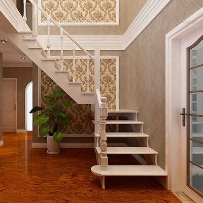 楼梯间墙纸装饰图片 楼梯间壁纸装修效果图