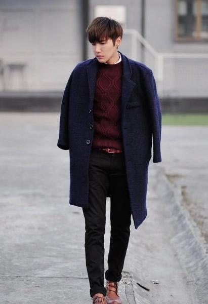 男士毛呢外套搭配 男士呢子外套时尚搭配法图片