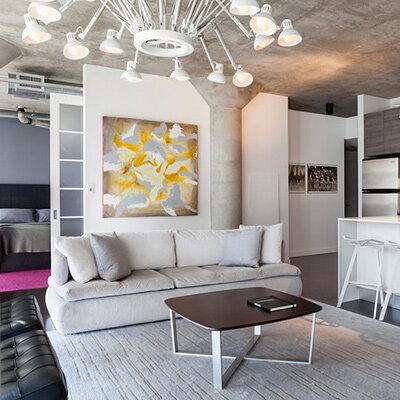 欧式清新风格设计案例 时尚公寓装修效果图欣赏