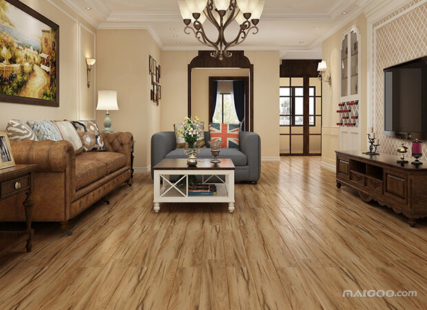 仿木纹地砖装修效果图 打造时尚自然之家6图欣赏