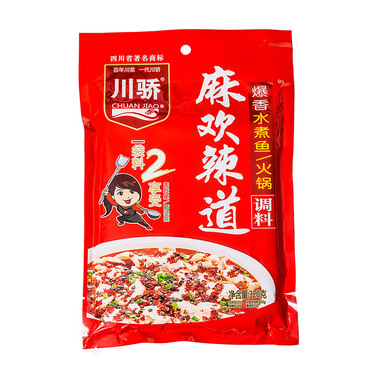 川骄 麻辣水煮鱼火锅底料 花椒辣椒爆香调料320克