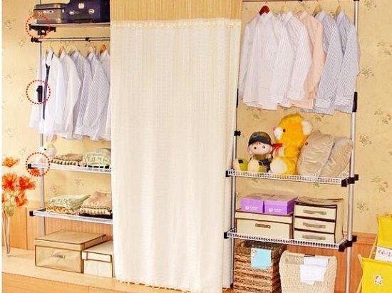 组装衣柜木头的好还是钢管的好 组装衣柜图