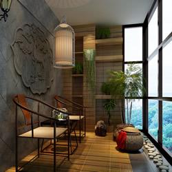 中式阳台是将中国传统元素融入阳台的装修设计.