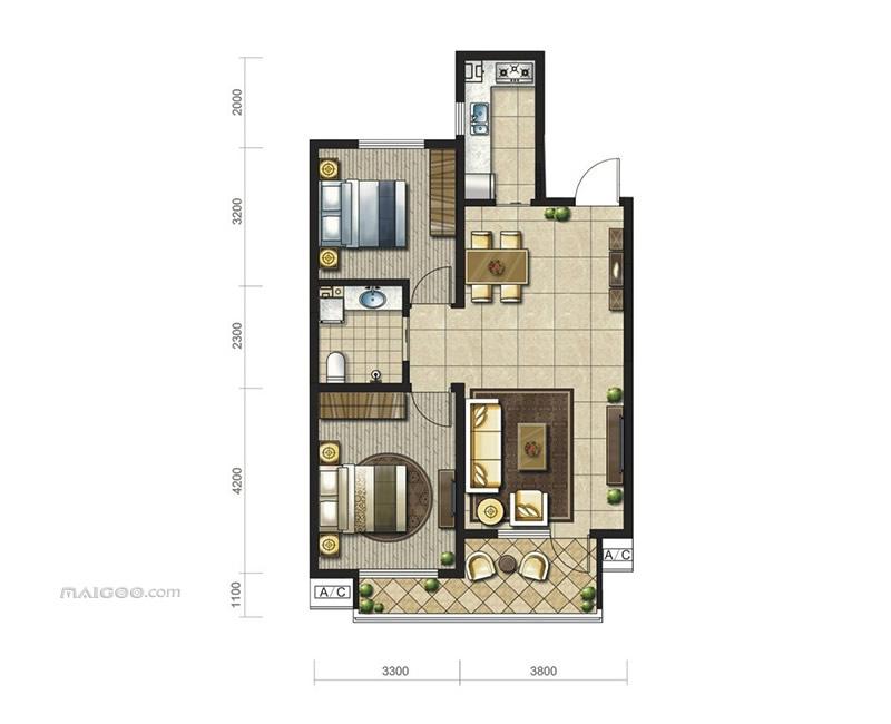 90平方房屋设计图 90平方小三房户型图大全