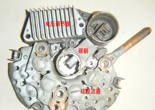 发电机电压调节器结构原理图-汽车发电机调节器工作原理 汽车电压调高清图片