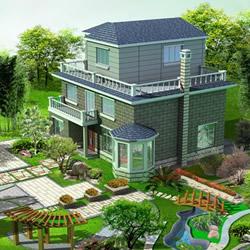 别墅庭院设计案例 别墅外观效果图大全图片